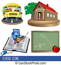 scuola, icone