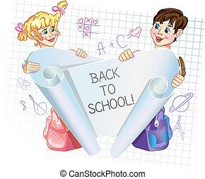 scuola, indietro, 3