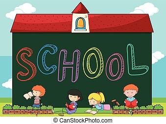 scuola, lettura, libri, bambini