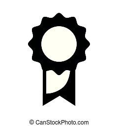 scuola, medaglia, simbolo, studente, intelligente, contorno