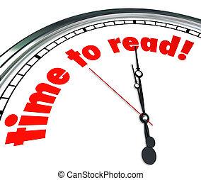 scuola, orologio, leggere, comprensione, cultura, tempo, lettura