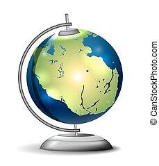 scuola, pangaea, globo