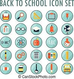 scuola, set., indietro, 1, parte, icona