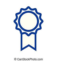 scuola, silhouette, medaglia, simbolo, studente, intelligente