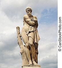 Scuplture Ponte Santa Trinita - the marble winter sculpture...