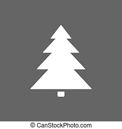 scuro, albero, natale, fondo, icona