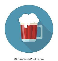 scuro, appartamento, tazza birra