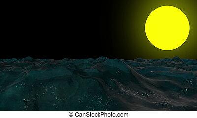scuro, astratto, onde, fondo, oceano