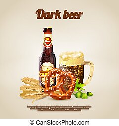 scuro, birra, fondo