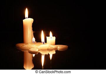 scuro, candele
