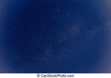 scuro, cielo notte, con, stars.