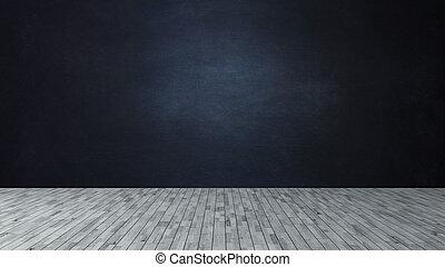 scuro, come, vuoto, lavagna, prodotto, legno, blu, scena, pavimento, parete