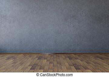 scuro, concreto, vuoto, parete