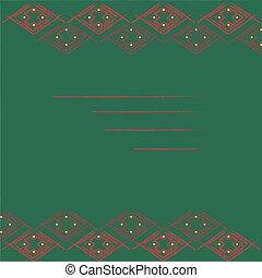 scuro, cornice, verde, geometrico, fondo