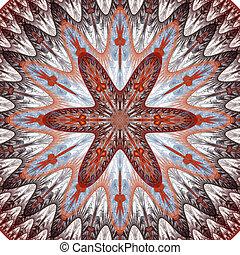 scuro, fiore, fractal