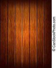 scuro, fondo., legno, vettore, illustrazione