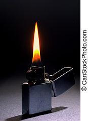 scuro, illuminazione, fiamma, fondo