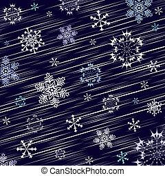 scuro, inverno, sfondo blu