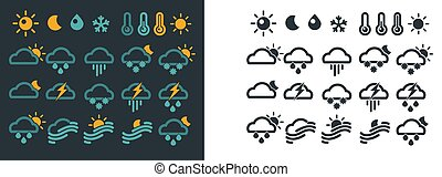 scuro, luce, sfondi, previsione, simboli, tempo