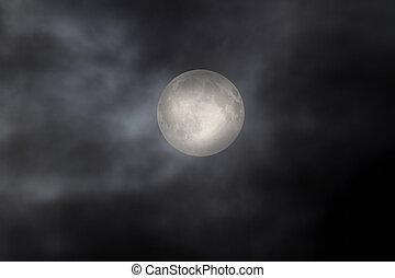 scuro, luna piena