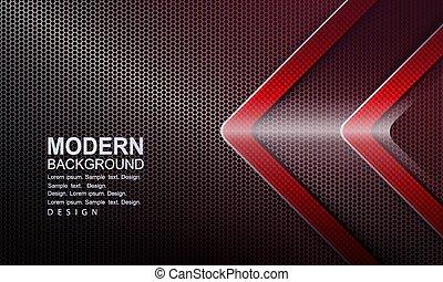 scuro, maglia, baluginante, rosso, disegno, frecce, textured...