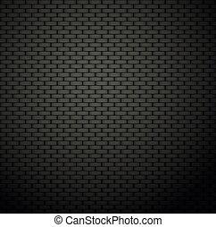 scuro, parete, mattone, fondo