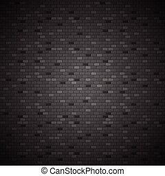 scuro, parete, mattone, vettore, illustrazione