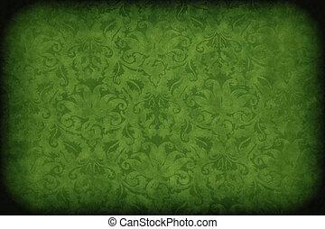 scuro, parete, verde