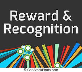 scuro, ricompensa, colorito, elementi, riconoscimento