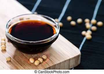 scuro, salsa soia