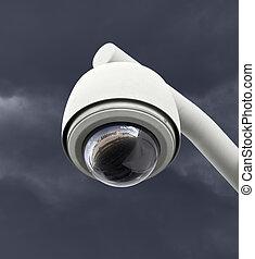 scuro, sicurezza, macchina fotografica, cielo, Temporale