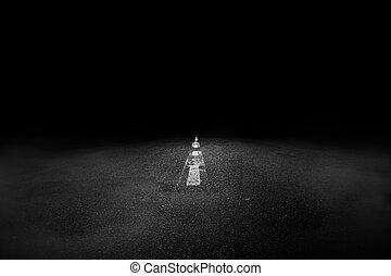 scuro, strada, pericolo