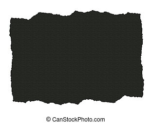 scuro, strappato, carta, textured