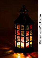 scuro, urente, colorito, lanterna