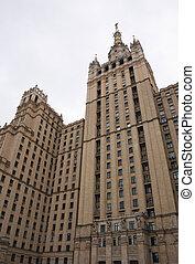 scyscraper - Moscow: scyscraper of the Stalin epoche agaist...