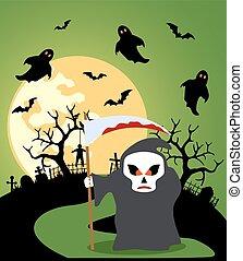 scytheman, halloween, fond