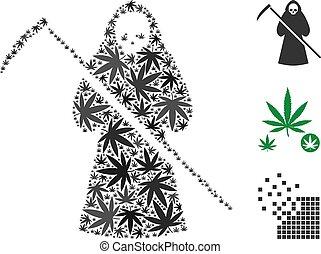 scytheman, marijuana, mosaïque