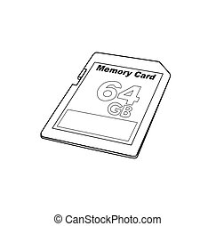 SD card - vector illustration