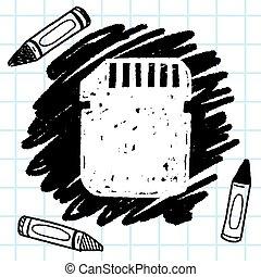 sd card doodle