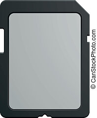 SD Card - detailed illustration of a modern SD memory Card,...
