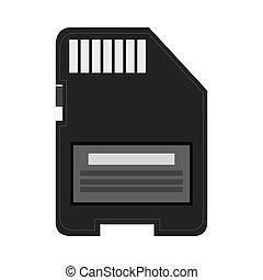 sd card icon - simple flat design sd card icon vector...