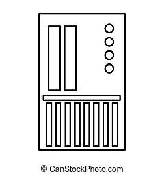 sd card icon - simple black line sd card icon vector...
