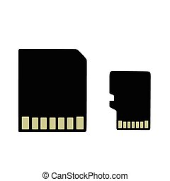 sd card - This is an illustration of an sd card an micro sd...