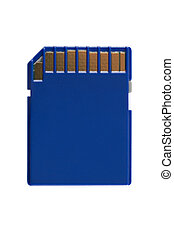 SD Memory Card (with clipping path) - Secure Digital memory...