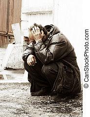 sdf, dépression, homme