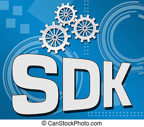 SDK Blue Technical Background