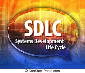 SDLC acronym word speech bubble illustration