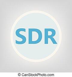 SDR (Software-defined radio) acronym- vector illustration