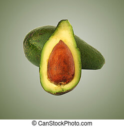 seção, abacate, seu
