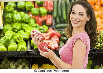 seção, shopping mulher, produto